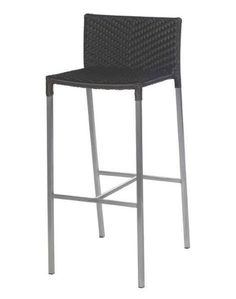 """""""Olivia"""" Wicker Stainless Steel Bar Stool in Brown – Simply Bar Stools Outdoor Bar Stools, Modern Bar Stools, Black And White Chair, White Chairs, Black White, Stainless Steel Bar Stools, Outdoor Furniture Chairs, Accent Chairs Under 100, Adirondack Chairs For Sale"""