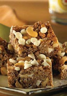 Rice Krispies Caramel Cashew Crunch Bars -- For a sweet and salty snack, try these bars, which are chock-full of cashews, white chocolate chips and melted caramel in place of marshmallows.
