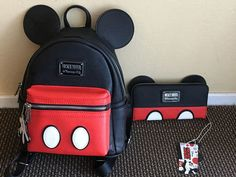 Mickey Backpack and Clutch Disney Handbags, Disney Purse, Mickey Backpack, Backpack Purse, Cute Mini Backpacks, Girl Backpacks, Mini Mochila, Disney Merchandise, Cute Purses