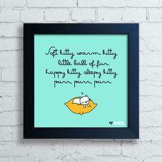 Quadro Soft Kitty - comprar online