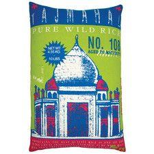 """Rice 13"""" x 20"""" Pillow with Taj Mahal Print"""