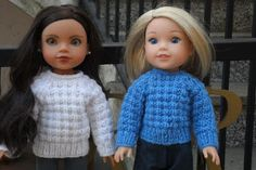 Free knitting pattern for Wellie Wisher doll
