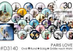 Cabochon+Vorlagen+Cabochonbilder+PARIS+LOVERS+von+Planet+Mallika+auf+DaWanda.com