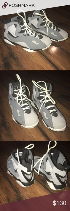 Jordan True Flight Worn once, like new. Gorgeous colors Dark Grey,Light Grey, Black & White . Super Clean. 100% Authentic Jordan True Flight . Men's size: 9 Jordan Shoes Sneakers
