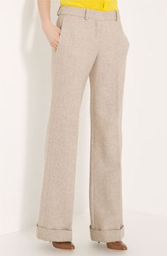 Chloe wool herringbone pants, $675 -- but look at those cuffs!