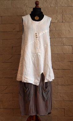 Sarah Santos Lagenlook Collection Mocha Pants Size XL   eBay