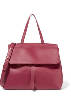 Claret leather (Calf) Tab-fastening front flap Designer color: Roccoco Due to the delicate nature of the material, natural veining and marks may occur Made in Italy