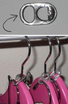 Como economizar espaço nos armários com anel de latinha