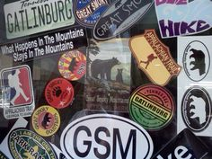 #Gatlinburg memorabilia - #Stickers