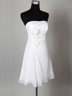 cheap white short chiffon beach wedding dress | Cheap beach wedding dresses Sale