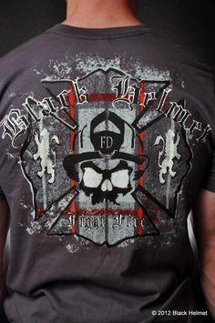 The Plaid Fire T-Shirt (Asphalt Gray)- Black Helmet Firefighter Apparel Firefighter Apparel, Firefighter Decor, Firefighter Tattoos, Black Helmet, Custom Made T Shirts, Fire Dept, Red Stuff, Stuff To Buy, Red Plaid