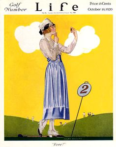 Life Mag Cover ILL.  -  Oct 14 1920  by Coles Phillips