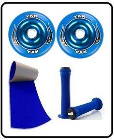 Razor Pro Scooter Color Kit Yak Metal Core Wheels Odi Grips And Griptape (BLUE) by Yak Odi TCO. $69.99. Razor Scooter Pro Color Kit Yak Metal Core Wheels Grips And Griptape BLUE