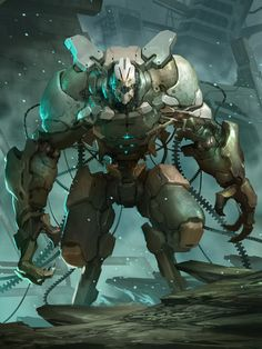 Beautiful Mecha Design by Reza ilyasa