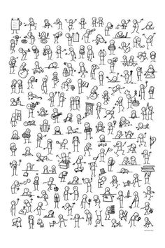 Ideas How To Draw People Easy Stick Figures Easy Disney Drawings, Disney Character Drawings, Easy Doodles Drawings, Simple Doodles, Cartoon Drawings, Cute Drawings, Chalk Drawings, Character Sketches, Drawing For Beginners
