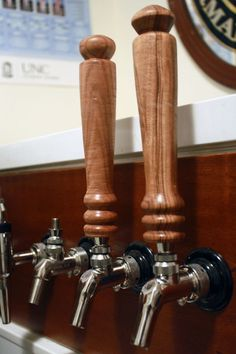 Hand-turned Wooden Tap Handle. $13.00, via Etsy.