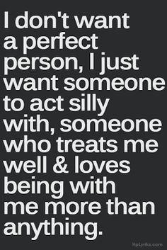 i don't want a perfect person, | Natasha's Words