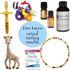 Oh Lovely Day Five Favorites: Natural Teething Remedies Baby Teething Remedies, Teething Relief, Natural Teething Remedies, Natural Remedies, Healthy Toddler Meals, Healthy Children, Sick Baby, Natural Teeth Whitening, Baby Health