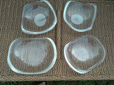 Set of 4 Astrolite Ritts bowls lucite acrylic mid century modern