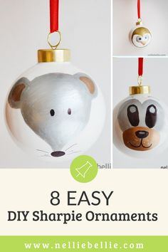 Start thinking about great DIY Christmas gifts for your friends and family! These adorable woodland animal Sharpie ornaments made with Sharpies are the perfect place to start. Great for the kids to help too. #Crafts #Christmasgifts #Kids #DIY #Ornaments Christmas Gift For You, Christmas Diy, Christmas Ornaments, Diy Ornaments, How To Make Ornaments, Sharpies, Cute Diys, Kids Diy, Woodland Animals
