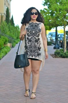 Cute Outfits For Plus Size Women. Graceful Plus Size Fashion Outfit Dresses for Everyday Ideas And Inspiration. Plus Size Refashion. Curvy Girl Fashion, Plus Size Fashion, Plus Size Dresses, Plus Size Outfits, Mode Xl, Moda Feminina Plus Size, Plus Size Summer Outfit, Looks Plus Size, Vestido Casual