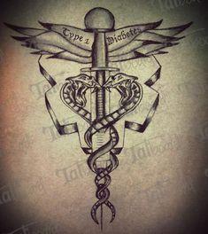 type+1+diabetes+tattoo+designs | Medic Alert Ink | Tatboard.com
