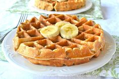 Whole Wheat Banana Oatmeal Greek Yogurt Waffles - Greek yogurt recipes curated by SavingStar Grocery Coupons. Save money on your groceries at SavingStar.com