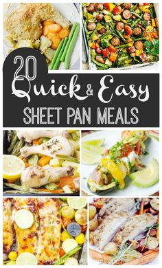 Low Unwanted Fat Cooking For Weightloss 20 Quick, Healthy And Easy Sheet Pan Dinners Fast, Simple And Healthy Sheet Pan Dinners. A Roundup Of 20 Family Friendly And Simple Recipes. Chicken, Fish, Pork Chops And More. Heated And Delicious. Healthy Dinner Recipes, Simple Recipes, Amazing Recipes, Delicious Recipes, Weeknight Recipes, Simple Meals, Healthy Dinners, Quick Recipes, Dessert Recipes