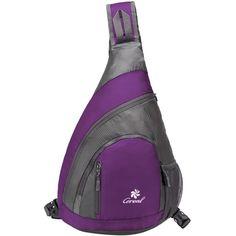 Amazon.com: Coreal Sling Bag Hiking Shoulder Backpack Lightweight... ($19) ❤ liked on Polyvore featuring men's fashion, men's bags, men's backpacks and mens sling backpack