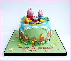 Image result for peppa pig dinosaur cake
