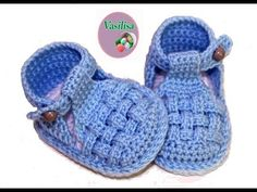 DIY baby booties sandals //Vasilisa - YouTube