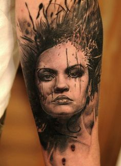Some Quality Meat - Tattoo by Andy Engel Weird Tattoos, Cool Tattoos, Awesome Tattoos, Black White Tattoos, Piercing Studio, Skin Art, Tattoo Inspiration, I Tattoo, Amazing Art