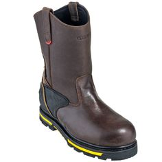 Stanley Boots: Men's FSW152S Brown Steel Toe Waterproof Dropper Wellington Boots #CarharttClothing #DickiesWorkwear #WolverineBoots #TimberlandProBoots #WolverineSteelToeBoots #SteelToeShoes #WorkBoots #CarharttJackets #WranglerJeans #CarhartBibOveralls #CarharttPants