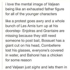HE'S LIKE THE CLINT BARTON OF LES MIS./// that's one (read: happier) way to look at it.