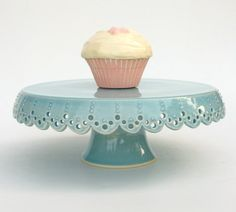 Cake Stand Lace 8 MADE TO ORDER by vesselsandwares on Etsy