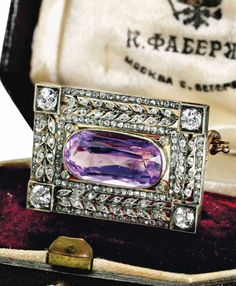 Antique Gold, Antique Jewelry, Vintage Jewelry, Faberge Eier, Faberge Jewelry, Royal Jewelry, Diamond Brooch, Amethyst Jewelry, Queen