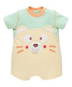 Look what I found on #zulily! Orange Stripe Bear Romper #zulilyfinds