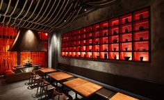 Prism Design Kemuri Shanghai Restaurant-10 #ideas #piso #pared #restaurante #revestimientos #espacios