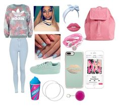 """Blue & Pink"" by iambri-bri-4life ❤ liked on Polyvore featuring Topshop, adidas, Classique, Casetify, Beauxoxo, Vera Bradley and Lime Crime"