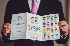 SUPER want to do a cute program like this to explain all the traditions and have guests get to know our bridal party