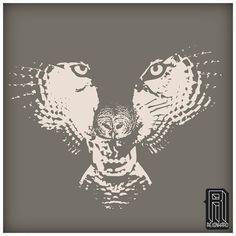 H.owl Wolf Owl Illusion Design