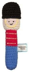 Image of Crochet Soldier Sam hand rattle