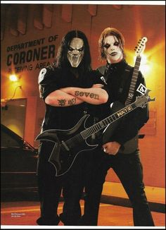 Slipknot Mick Thomson Jim Root Planet Waves guitar cables 8 x 11 ad print Metal Music Bands, Heavy Metal Music, Heavy Metal Bands, Nu Metal, Metal Girl, Iowa, Slipknot Band, Slipknot Corey Taylor, Mick Thomson