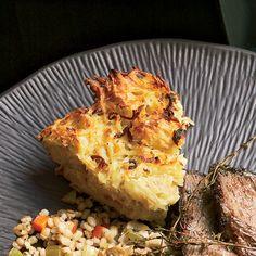 Potato Kugel with Fried Shallots // More Great Potato Recipes: http://www.foodandwine.com/slideshows/potatoes #foodandwine