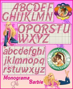 Charts Cross Stitch Embroidery Angela: Alphabet