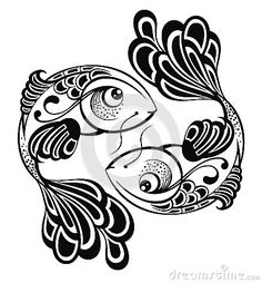 Tattoo Design Stock Vector - Illustration of animal, astrological: - Zodiac Signs – Pisces. Tattoo Design Stock Vector – Illustration of animal, astrological: 38095 - Zodiac Signs Pisces, Zodiac Sign Tattoos, Carpe Coi, Pisces Tattoo Designs, Pisces Constellation Tattoo, Arte Tribal, Zodiac Symbols, Illustration, Fish Art