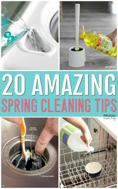 Spring Cleaning Tips and Hacks - Open the windows, let the sun shine in, and tackle the neglected areas of your home with these easy cleaning solutions. The forgotten areas that are filthy - who knew? Tips Spring Cleaning Tips and Hacks Deep Cleaning Tips, House Cleaning Tips, Cleaning Solutions, Household Cleaning Tips, Clean House Tips, Spring Cleaning Tips, Spring Cleaning Organization, Baking Soda Cleaning, Cleaning Supplies