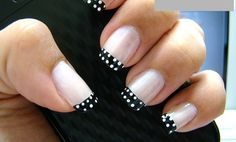 French Manicure With Delicate Decoration