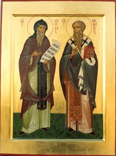 Ss. Cyril and Methodius, Apostles to Slavs More icons: http://whispersofanimmortalist.blogspot.com/2015/04/icons-of-venerables-i.html