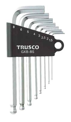 TRUSCO / 8 PCS BALL POINT HEX WRENCH SET MM TYPE / GXB-8S / MADE IN JAPAN #TRUSCO